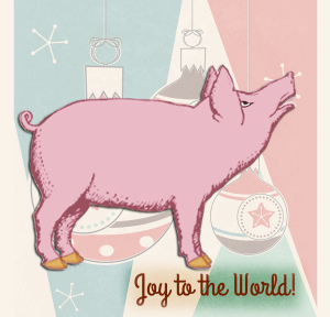Holiday Pig | by China Rose