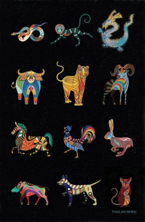 Zodiac Art by Thailan When