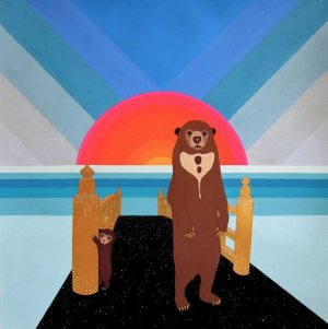 Sunbears in Ombre Sky by Thailan